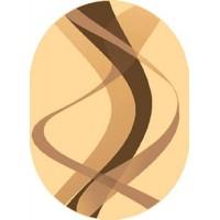 Dywan brown krem 80x150cm owal