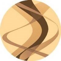 Dywan brown krem 120x120cm koło