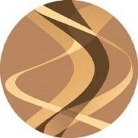 Dywan brown orzech 160x160cm koło