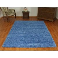 dywan shaggy niebieski 120x170cm