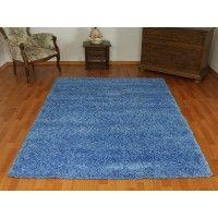dywan shaggy niebieski 140x190cm