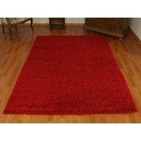 dywan shaggy czerwony 120x170cm