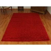 dywan shaggy czerwony 140x190cm