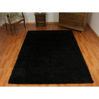 dywan shaggy czarny 120x170cm