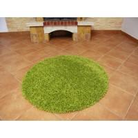 dywan shaggy zielony 200x200cm koło