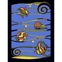 Dywan Weliro Rybki niebieski 160x220cm