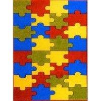 Dywan Weliro Puzzle terakota 100x160cm