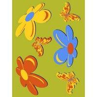 Dywan Weliro Motyle zielony 120x170cm