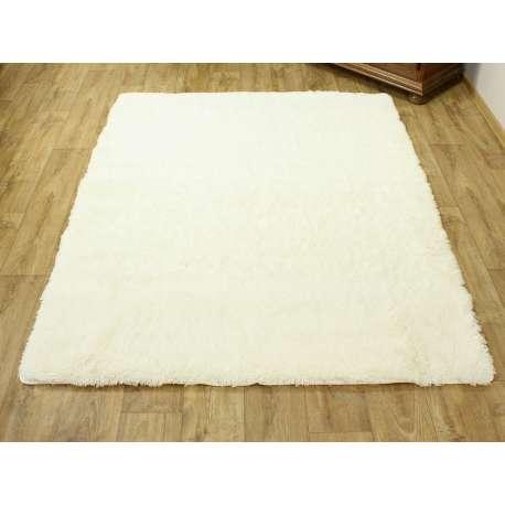 Dywan pluszowy 140x190cm biały