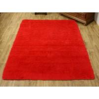 Dywan pluszowy 140x190cm czerwony