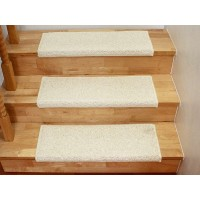 Nakładka na schody shaggy opus biały 65x24cm prostokąt