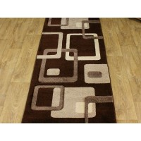 Chodnik dywanowy 80cm fryz nr 82 brąz