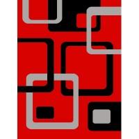 Dywan Fryz wycinany 200x290cm nr 86 czerwony