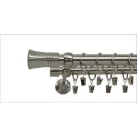Karnisz podwójny 120cm zakończenie capri uchwyt klasyczny