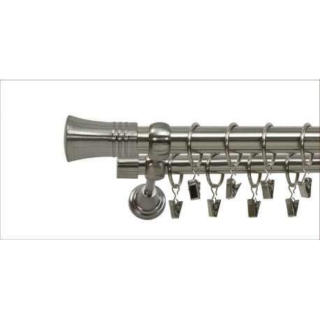 Karnisz podwójny 160cm zakończenie capri uchwyt klasyczny