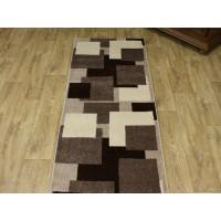 Chodnik dywanowy 80cm fryz nr 175 brąz