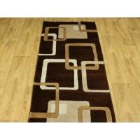 Chodnik dywanowy 80cm fryz nr 144 brąz