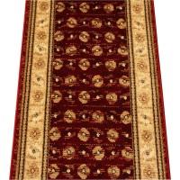 Chodnik dywanowy 100cm AGNELLA OPTIMAL PERCA BORDO