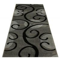 Chodnik dywanowy 80cm fryz nr 43 popiel