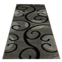 Chodnik dywanowy 100cm fryz nr 43 popiel