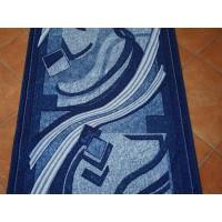 Chodnik antypoślizgowy fale niebieska 150cm