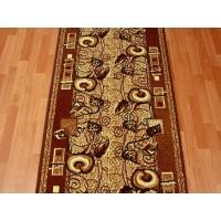 Chodnik dywanowy Weltom Welen nr 49 brąz 100cm