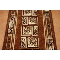 Chodnik dywanowy Weltom Welen greco brąz 70cm