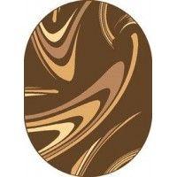 Dywan coffe brąz 80x150cm owal