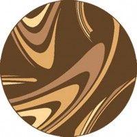 Dywan coffe brąz 160x160cm koło