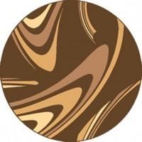 Dywan coffe brąz 120x120cm koło
