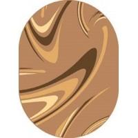 Dywan coffe orzech 80x150cm owal