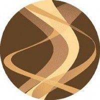 Dywan brown brąz 160x160cm koło